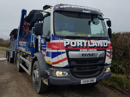 Portland Stone New Drawbar Trailer and Skip Lorry added to the fleet Image