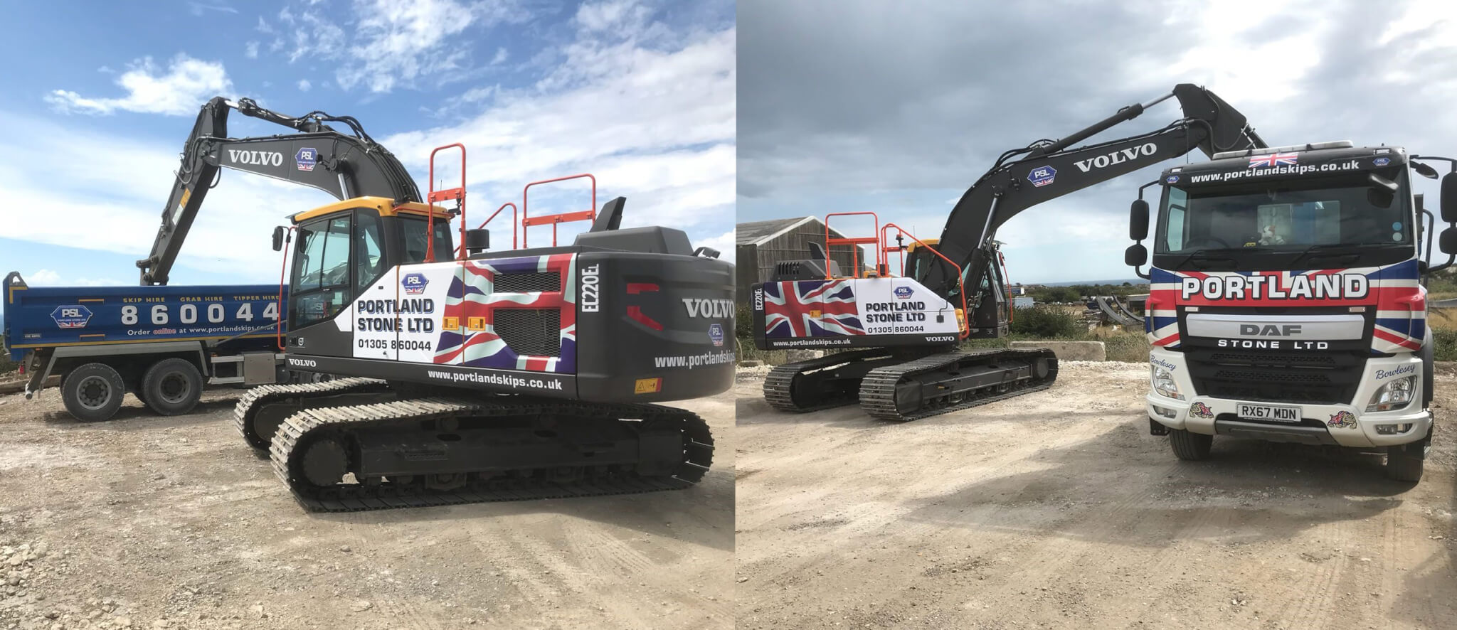 Portland Stone Add New Volvo EC220 Excavator To The Company