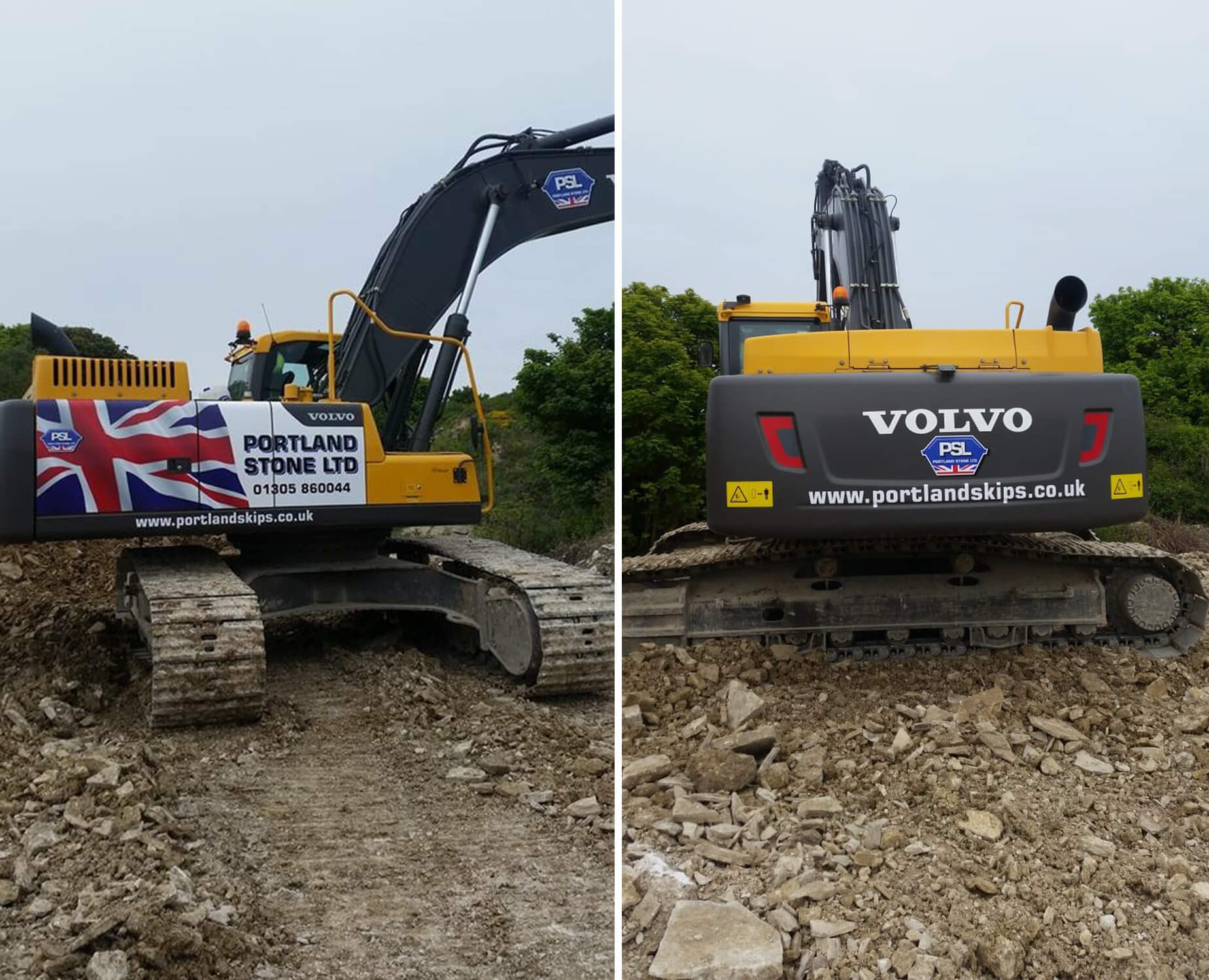 Portland Stone Add New Volvo EC300DL Excavator To The Company