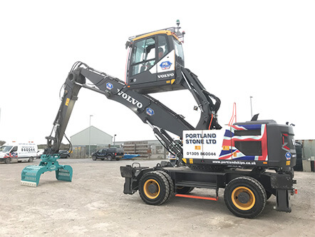 Portland Stone Add New Volvo EW240E Material Handler To The Company