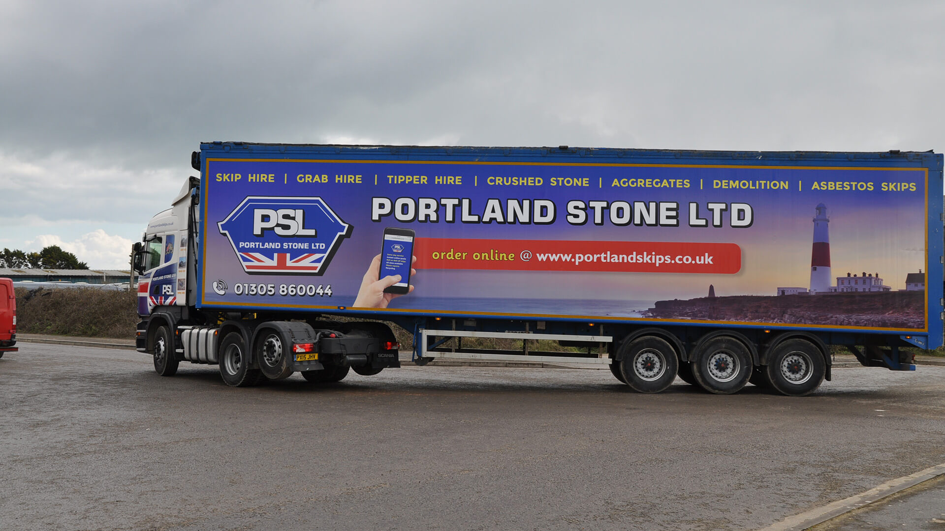 Portland Skips - Walking Floor Trailer added to Growing Fleet - Weymouth Wareham Bridport Devon