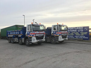 Portland Stone - Two new DAF 8x4 Tippers added to the fleet to keep up our exceptional service