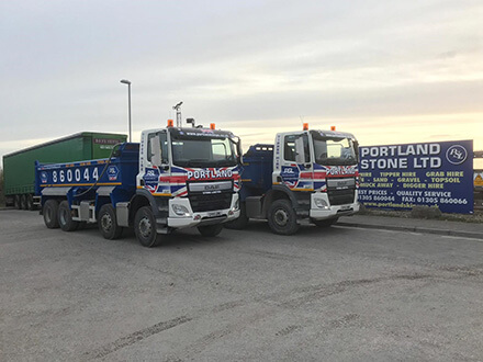 Portland Stone – Two new DAF 8×4 Tippers added to the fleet to keep up our exceptional service