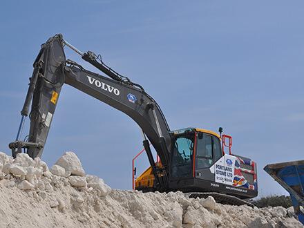 Portland Skips' Volvo EC250 Excavator